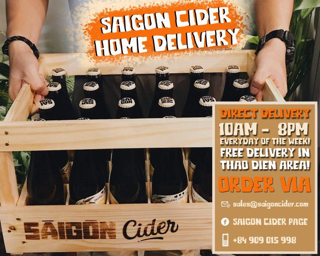 saigon cider apple tại nhà, bia ồng độ thấp, đặt hàng dễ dàng