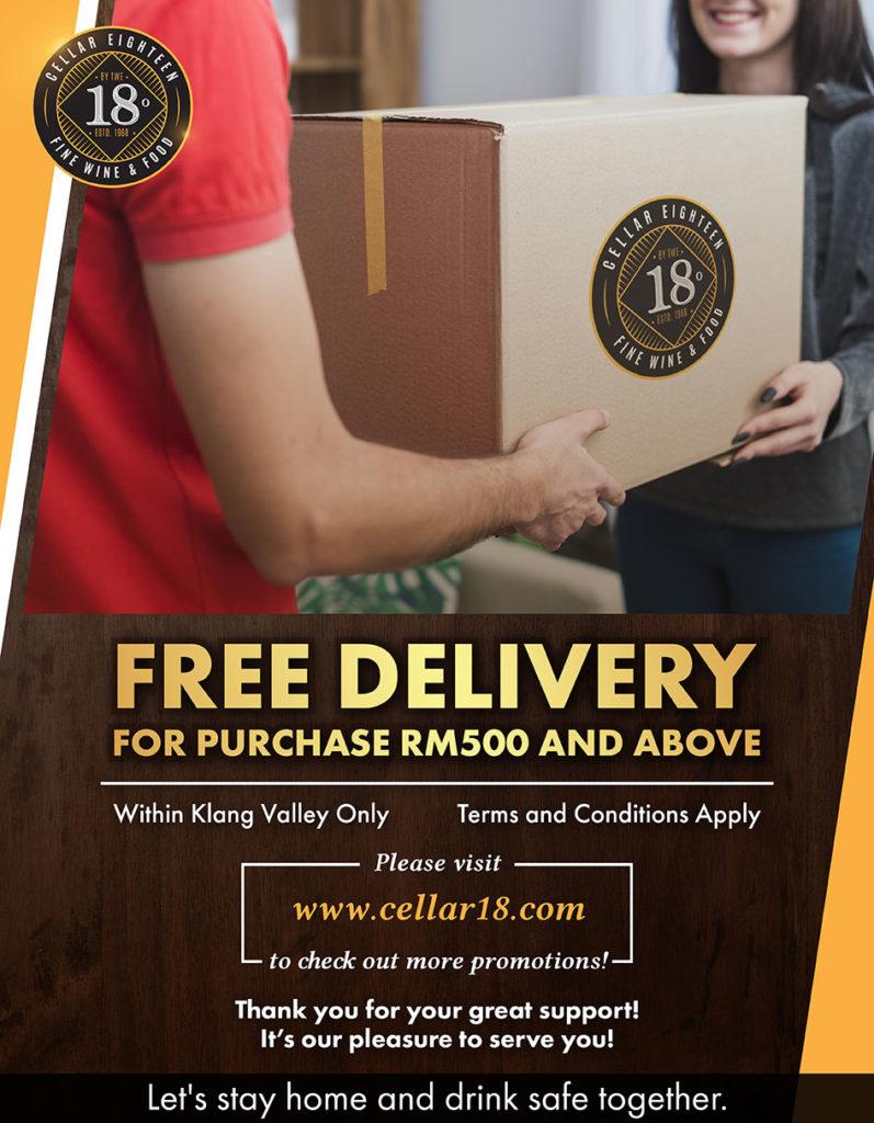 đặt hàng online, giao hàng tới nhà bạn, Cellar 18 KL