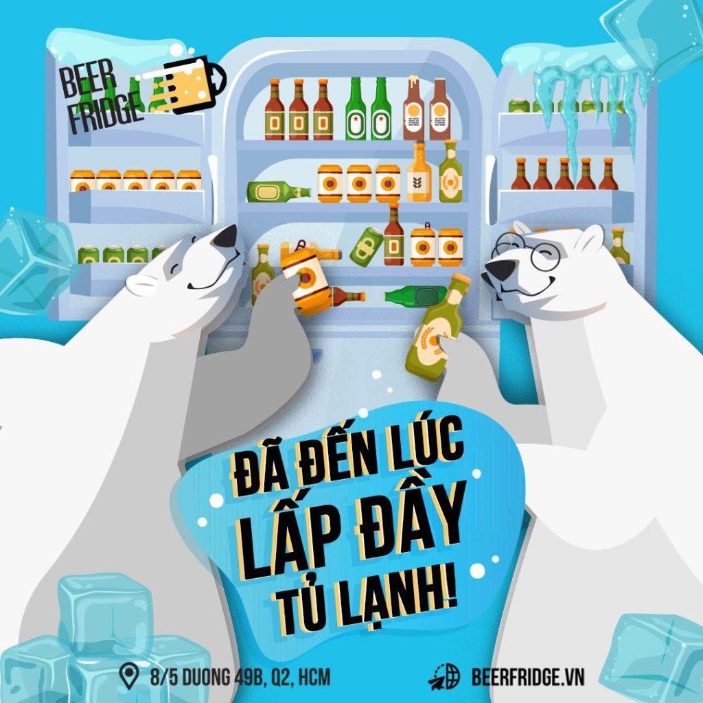 tủ lạnh bia quận 2, beer fridge vn, ưu đãi hấp dẫn tại nhà, giao tận nơi