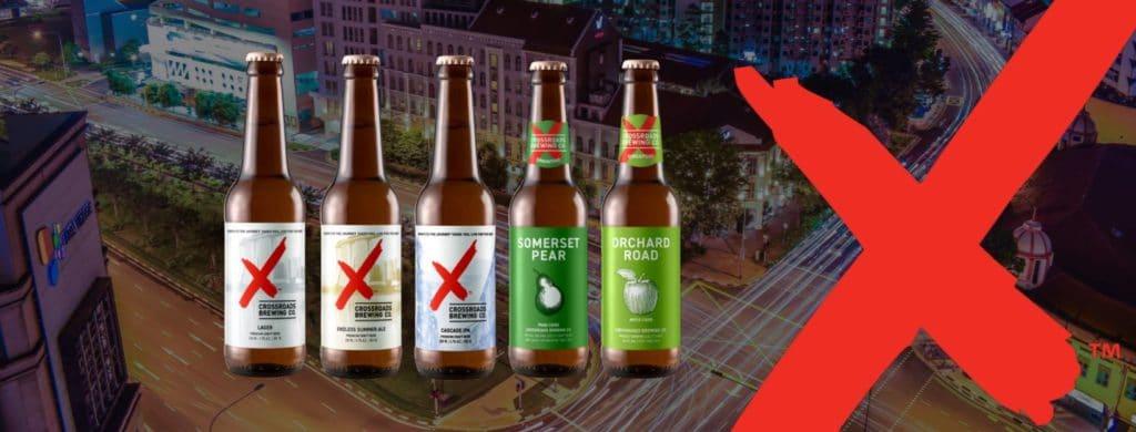 bia chai Crossroads brewing, bia singapore, tận tay khách hàng