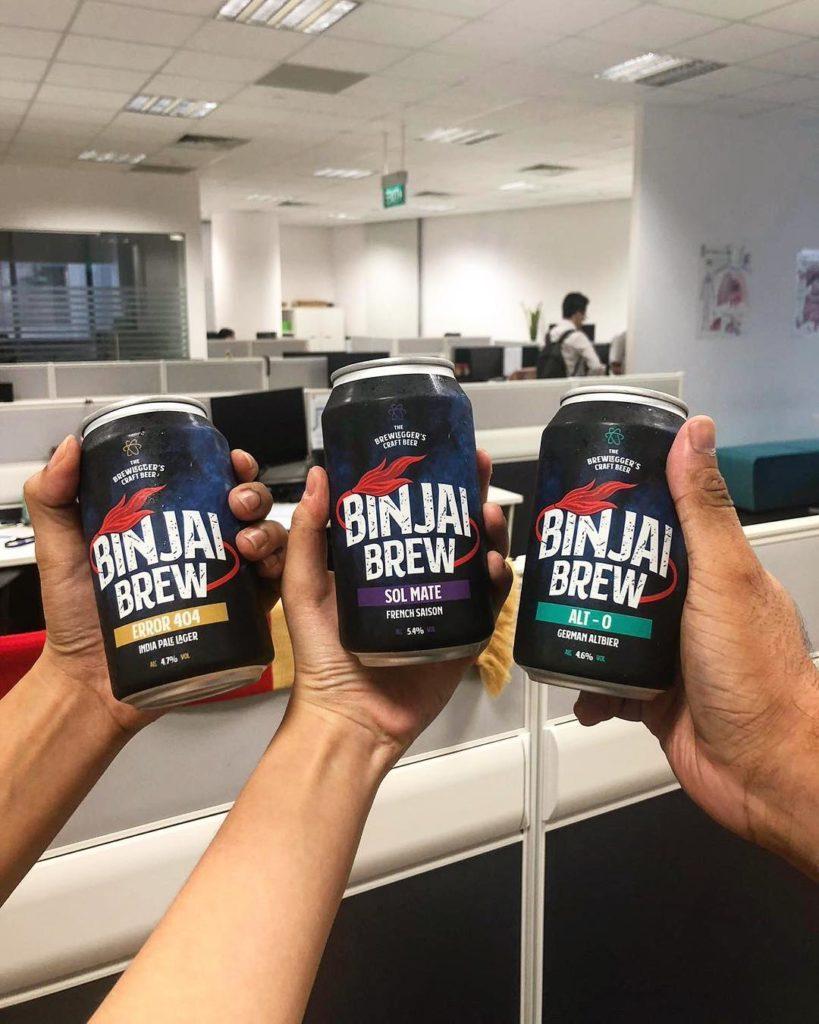 bia thủ công lon, bia singapore, binjai brew, bia giao tận nhà
