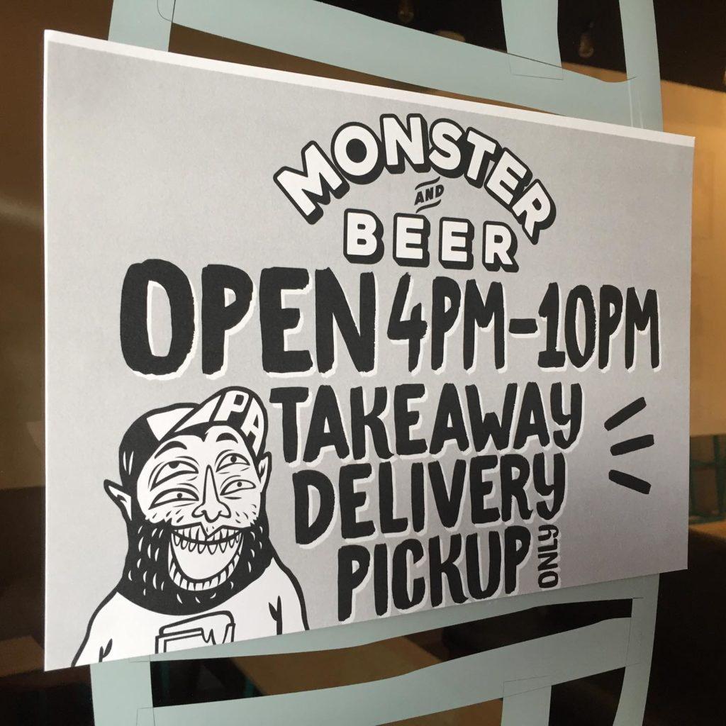 đặt hàng trực tuyến, giao hàng tận nơi, Monster and Beer