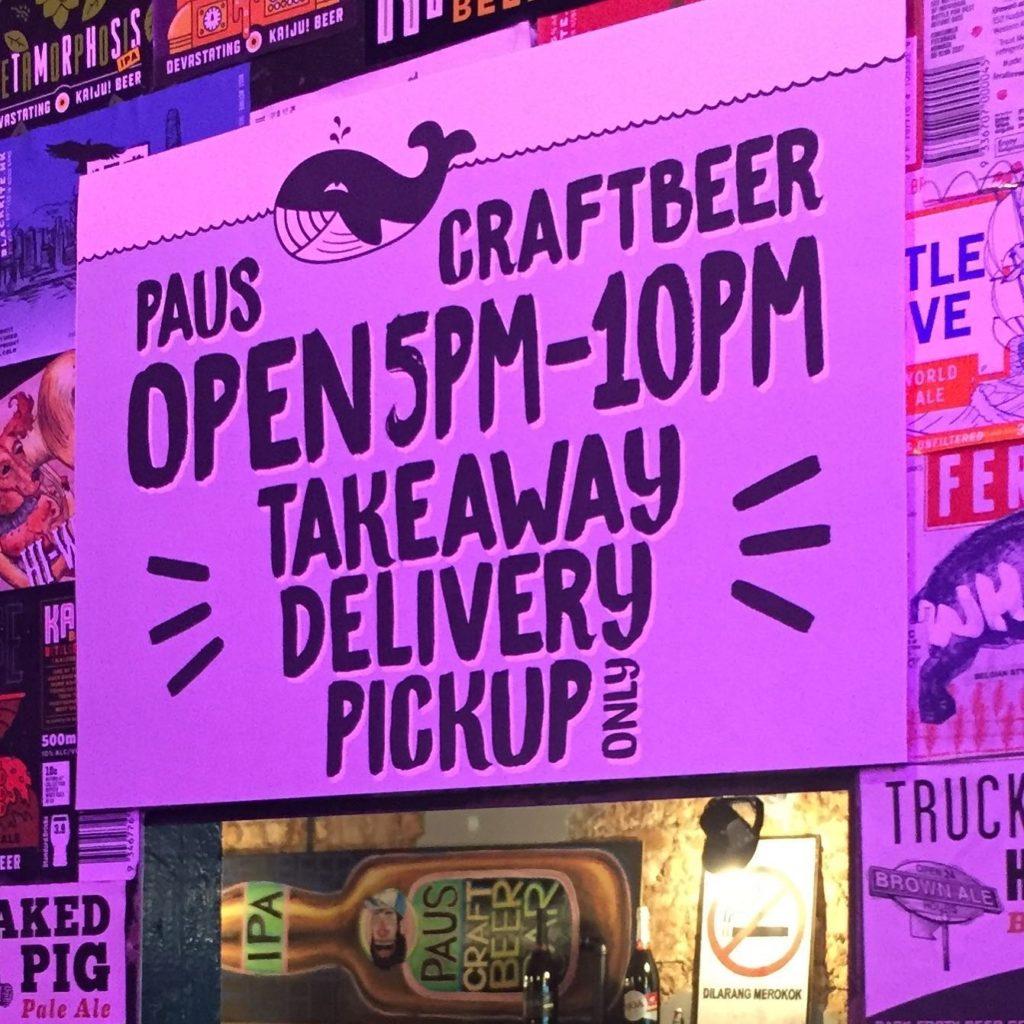 đặt hàng trực tuyến, giao hàng tận nơi, PAUS Craft Beer Bar