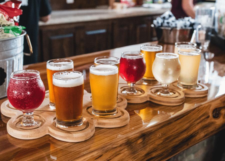 set flight 5 ly bia, nhiều thể loại bia khác nhau