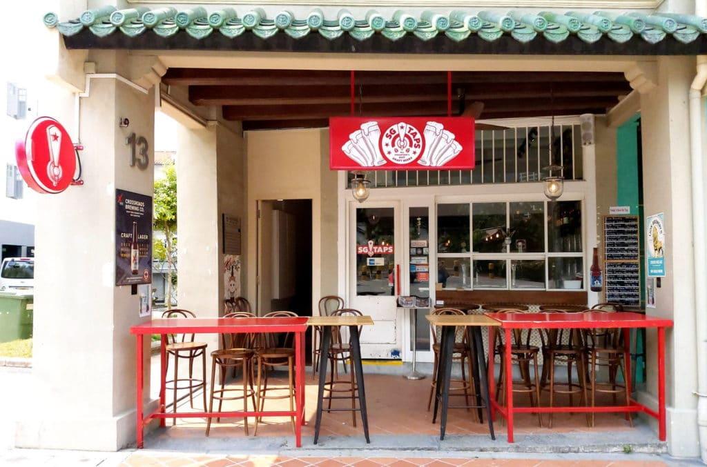 cửa hàng bia SG Taps, dịch vụ giao bia tận tay khách hàng, nhà hàng tại singapore